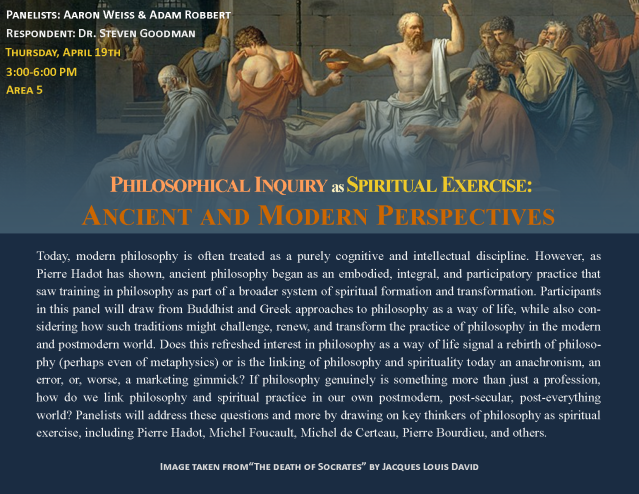 Philosophical Inquiry as Spiritual Exercise flyer